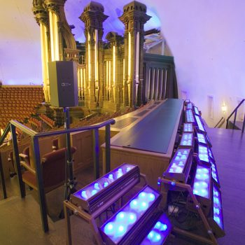 LED cyc light system in the Salt Lake Tabernacle