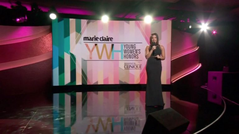The Marie Claire YMH awrds show.