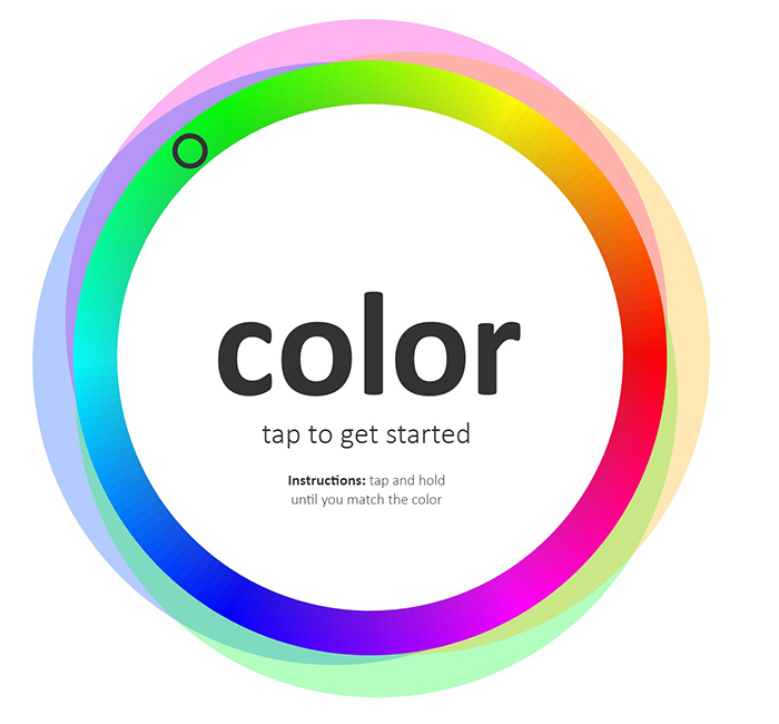 Color Match Game Wheel