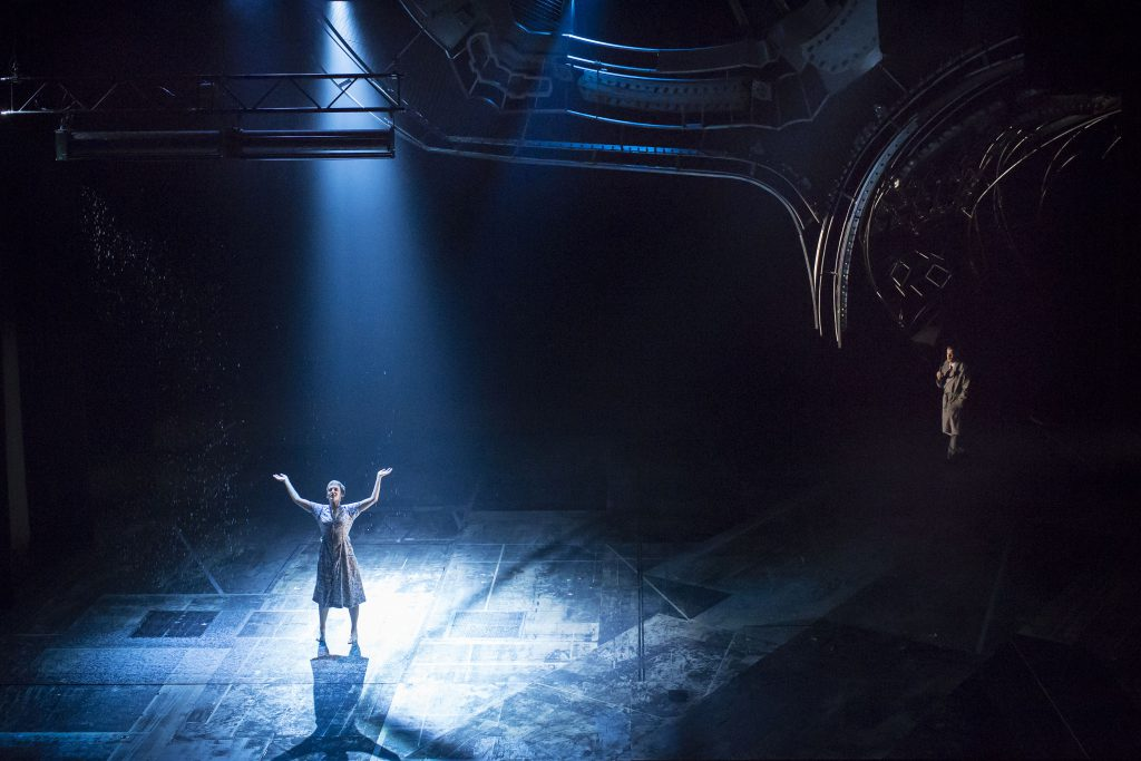 Denise Gough (Harper) and Russell Tovey (Joseph) in AngelsInAmerica Perestroika photo by Helen Maybanks