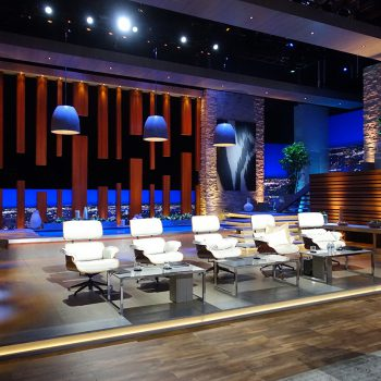 The Shark Tank set