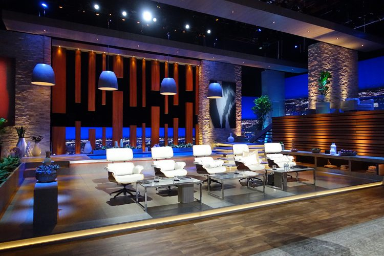 The new set for the ninth season of The Shark Tank in 2017.