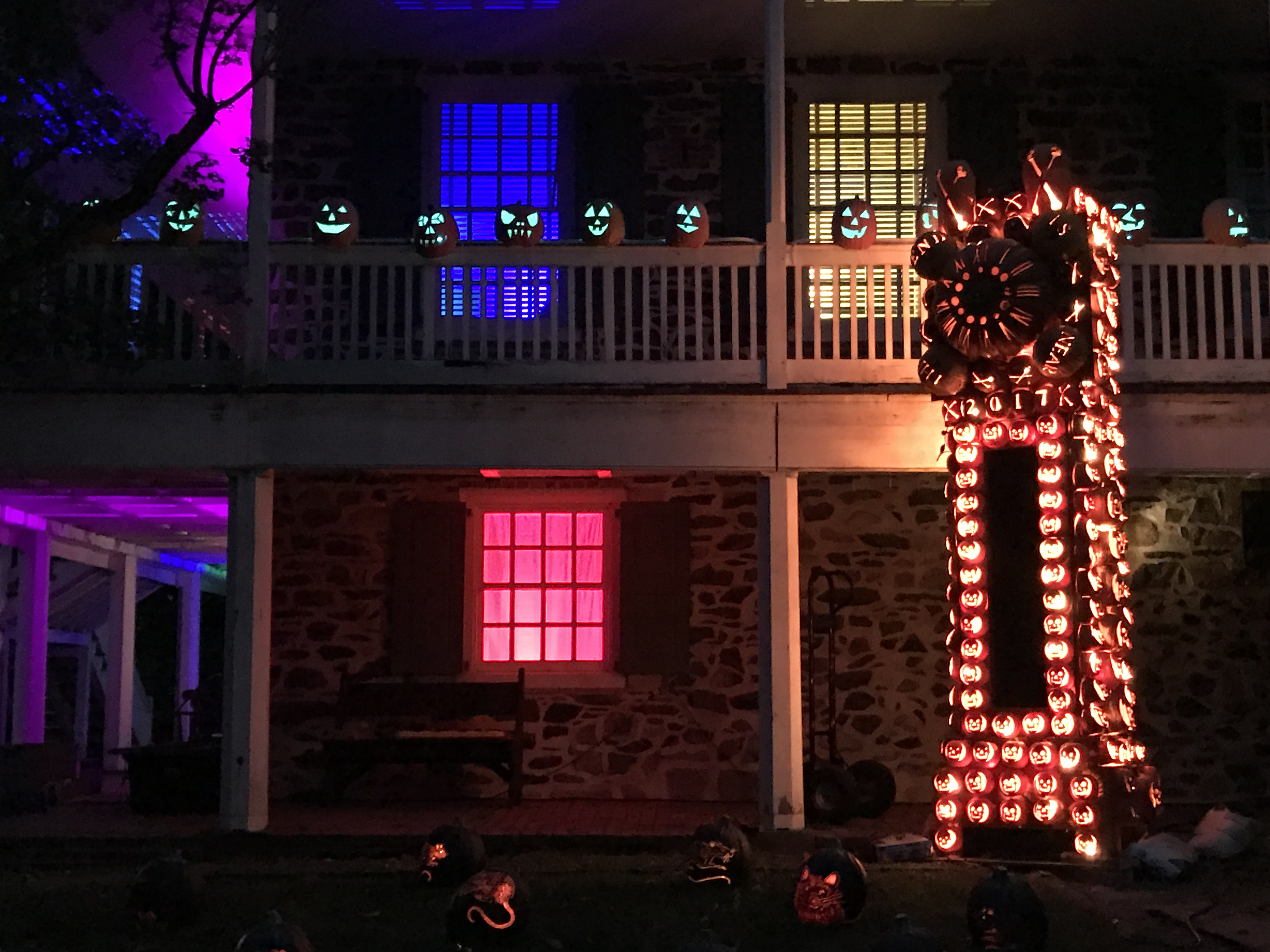 Programming Pumpkins For A Halloween Extravaganza How Do Christmas Lights Work We Some In The Historic Houses And Thats All Done With Museum Curator Who Stands Us Makes Sure Dont Anything That Would