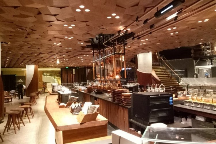 ETC lights Starbucks in Shanghai