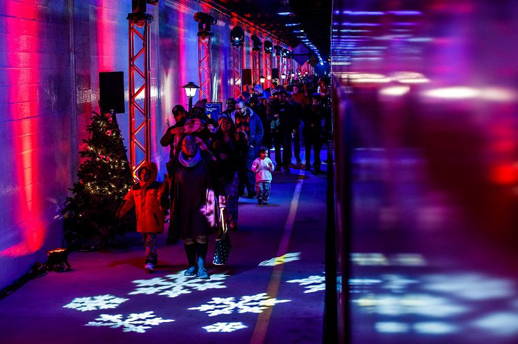 The Polar Express Train Ride, produced by Rail Events Productions at Chicago Union Station, in Chicago, Ill., Thursday, November 29, 2018. Photo by Guy Rhodes