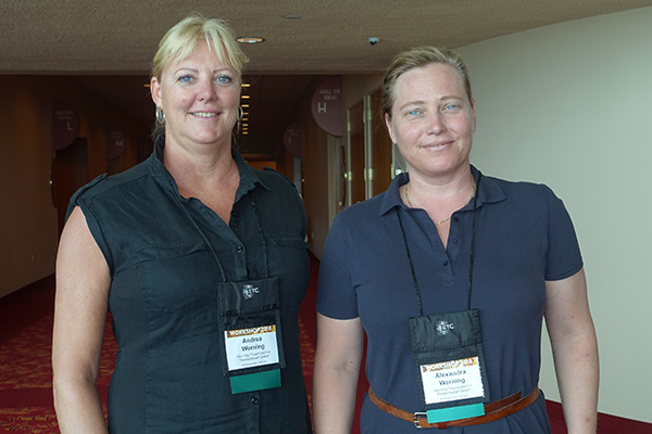 Andrea and Alexandra Werning of Werning Theatertechnik-Theaterbedarf