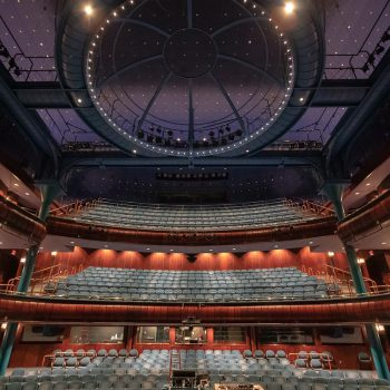 Newmark Theatre with new LED house lights.
