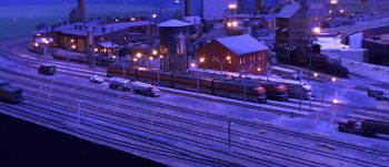 Train whistles are heard further at night due to atmospheric temperatures bending sound waves back to earth