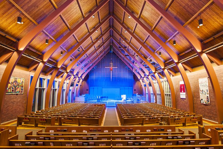 First United Methodist Church in Portland, Ore. Lighting design by PLA Designs