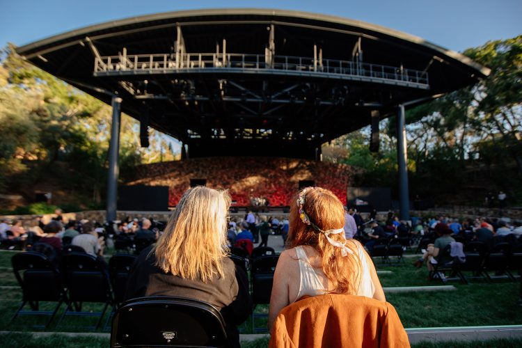 Frost Amphitheater debuted its renovations in 2019