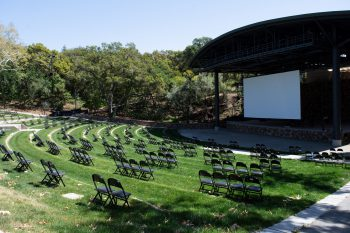 empty chairs at Frost Amphitheater